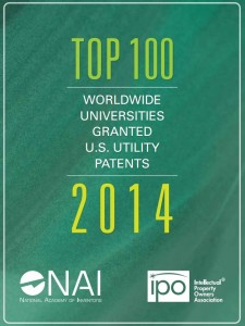 Cover of Top 100 worldwide universities granted patents in 2014