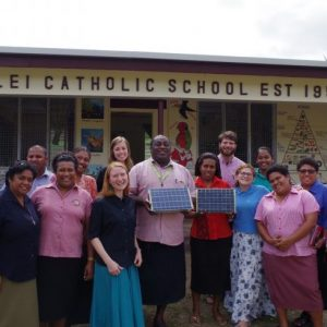Fiji teachers receive the country's first SolarSPELLs