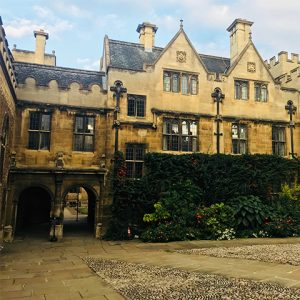 Historic building on Oxford University