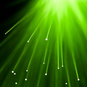 bursts of green light
