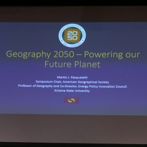 Pasqualetti, Geography 2050 - Powering our Future Planet presentation