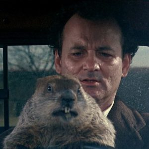 Still from the 1993 Columbia Pictures film Groundhog Day with Bill Murray