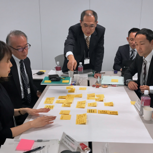 Workshop session using post-it notes