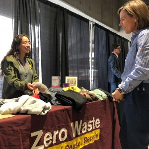 Sustainability students Zer Waste exhibit at Change the World