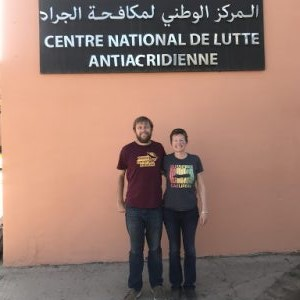 Arianne Cease and another in Agadir Morocco for the International Congress of the Orthopterists Society