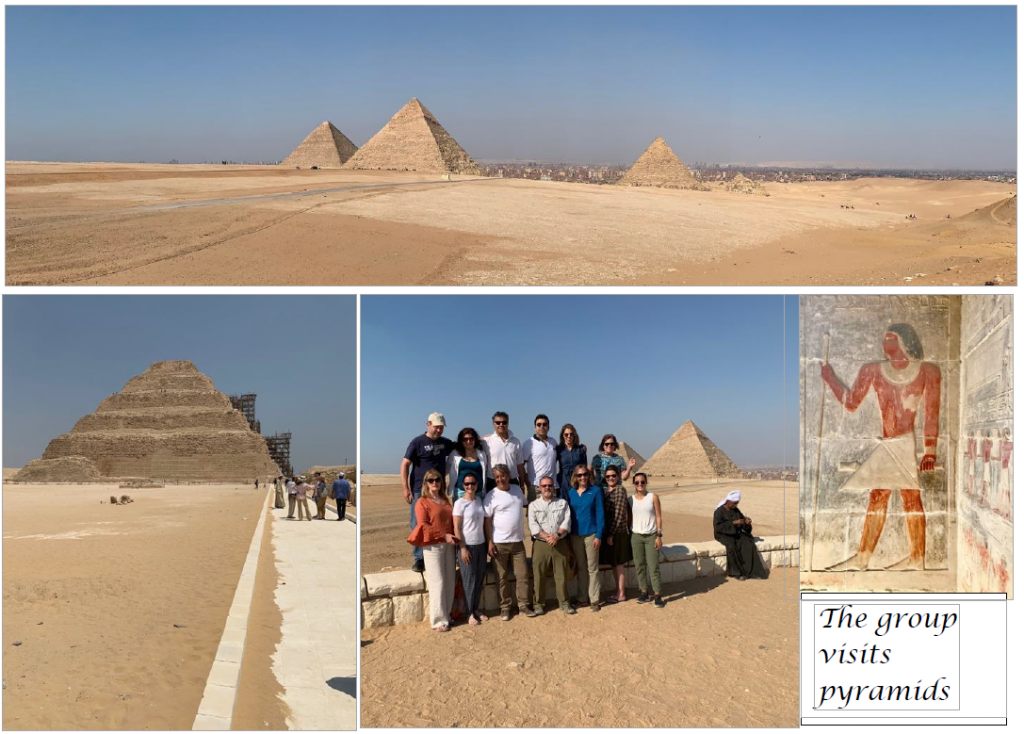 Egypt group in front of the Pyramids
