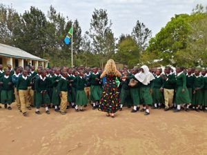 Kayla Kutter serving in the Peace Corps in Tanzania