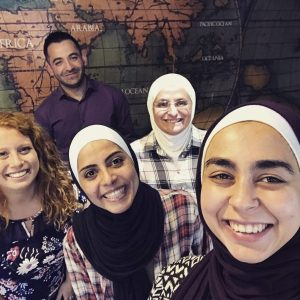 Maddie and the leaders of the refugee Girls Empowerment Programs