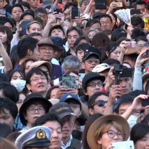 crowd of people in Japan