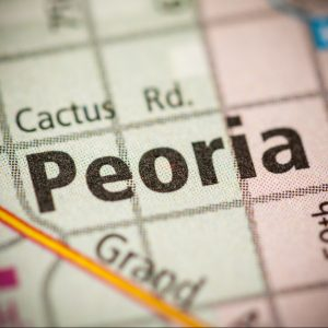 picture of peoria on map