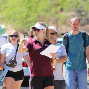 Dr. Jenni Vanos leading Tempe Heat Walk research