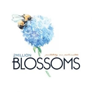2 million blossoms logo