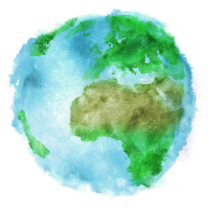 Watercolor paint Earth