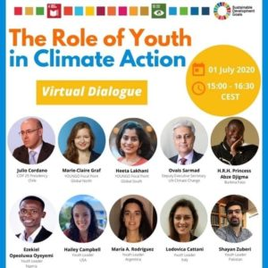 SOS student represents US youth in UN climate dialogue