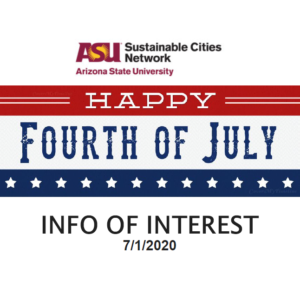 "Info of Interest emailer intro with ""Happy Fourth of July"""
