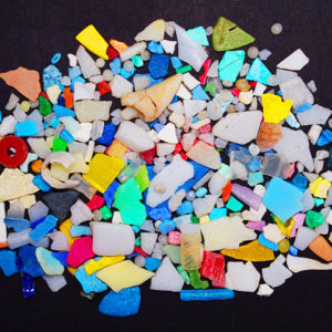small pile of microplastics on a surface