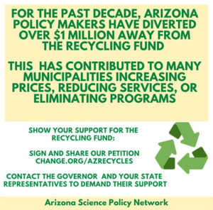 Small flyer with info on AZ recycling program
