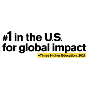 ASU is #1 in teh US for global impact.