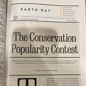 View of the printed magazine showing the article's front page